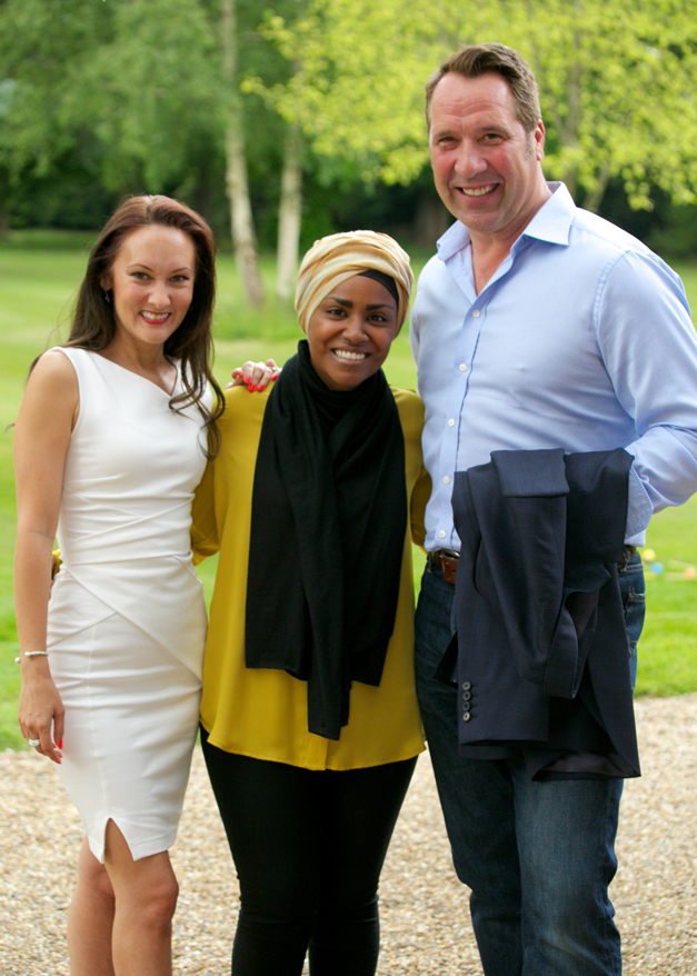 Champneys High Tea Launch Nadiya Hussain David Seaman Frankie Seaman