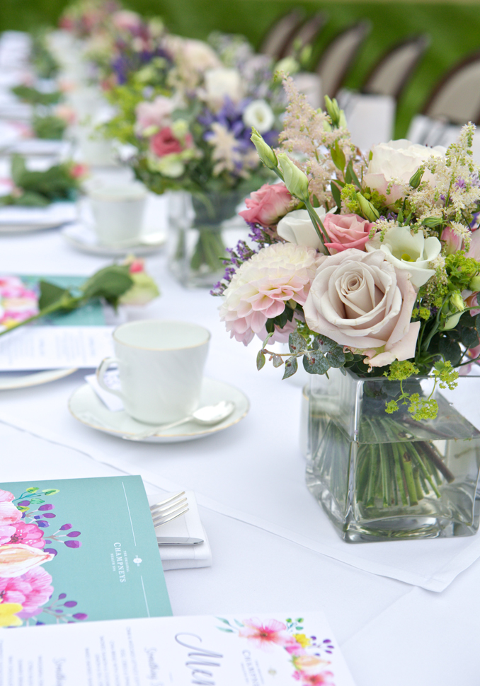 Champneys High Tea Launch Flowers Rebecca Fennell Photography