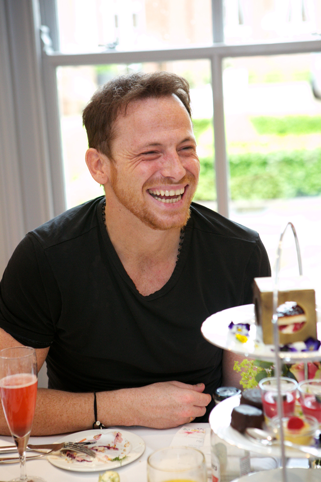 Champneys Afternoon Tea Launch Joe Swash