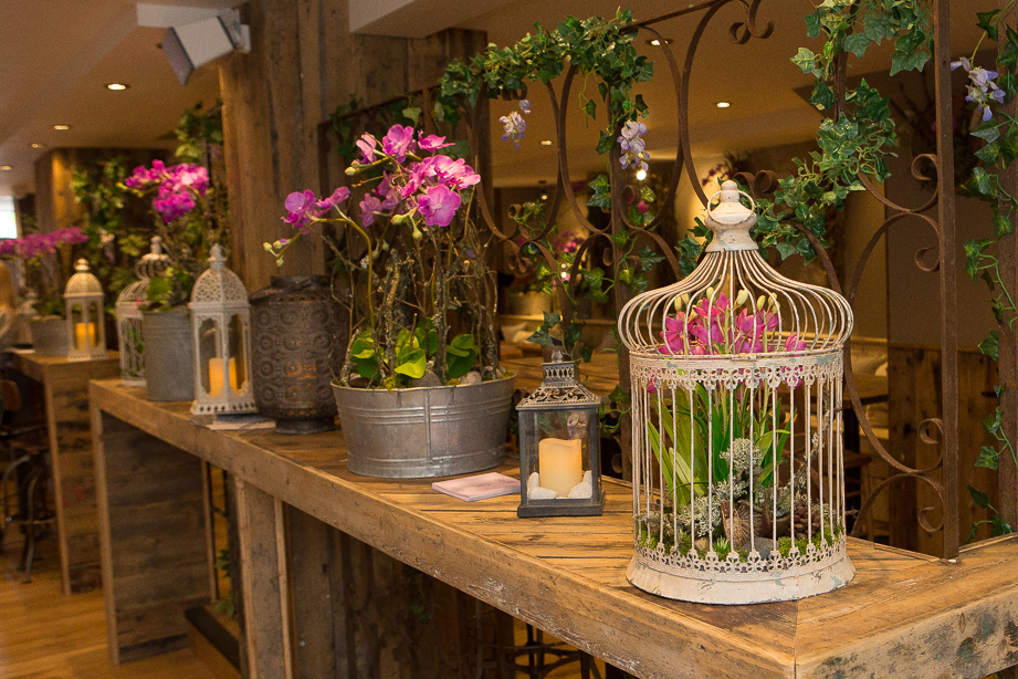 Orchids at Giggling Squid Brentwood Launch
