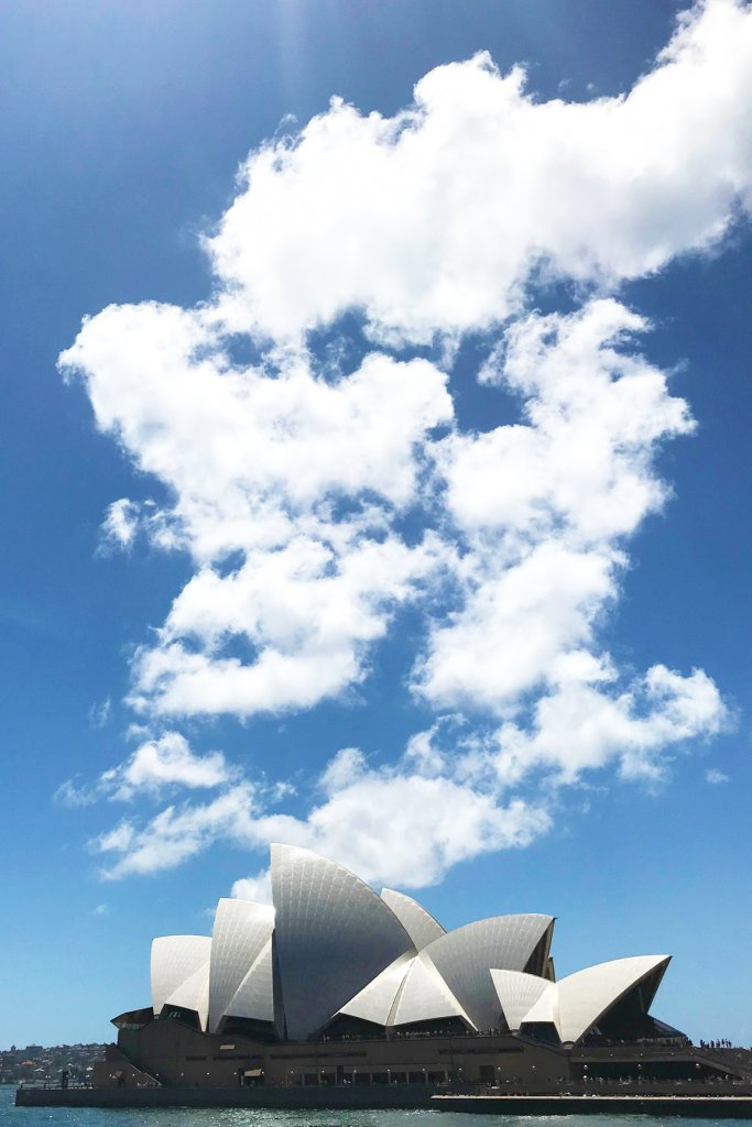 Clouds above Sydney Opera House
